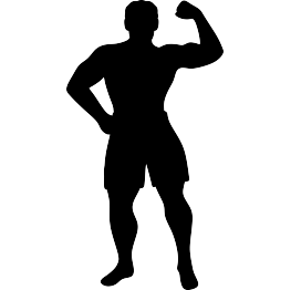 picture transparent library Muscle clipart silhouette. At getdrawings com free.