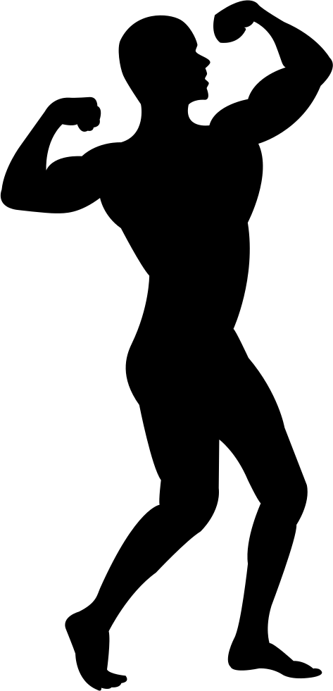 jpg royalty free Muscle man silhouette clip. Muscles clipart