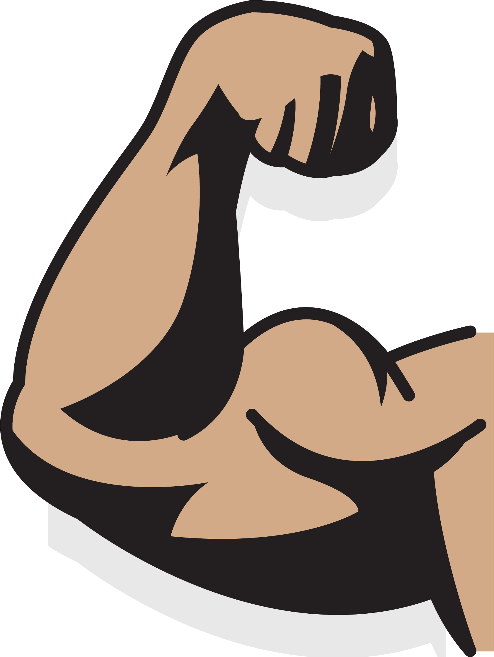 jpg library stock Bicep drawing animated. Muscle augu delms arm