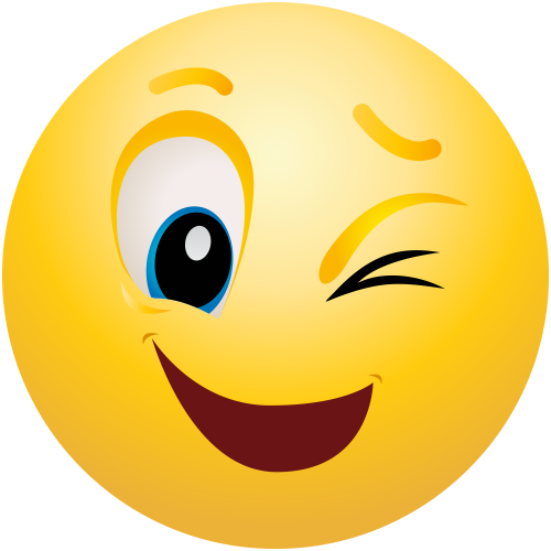 png library download Yes clipart emoticon. Winking png clip art.
