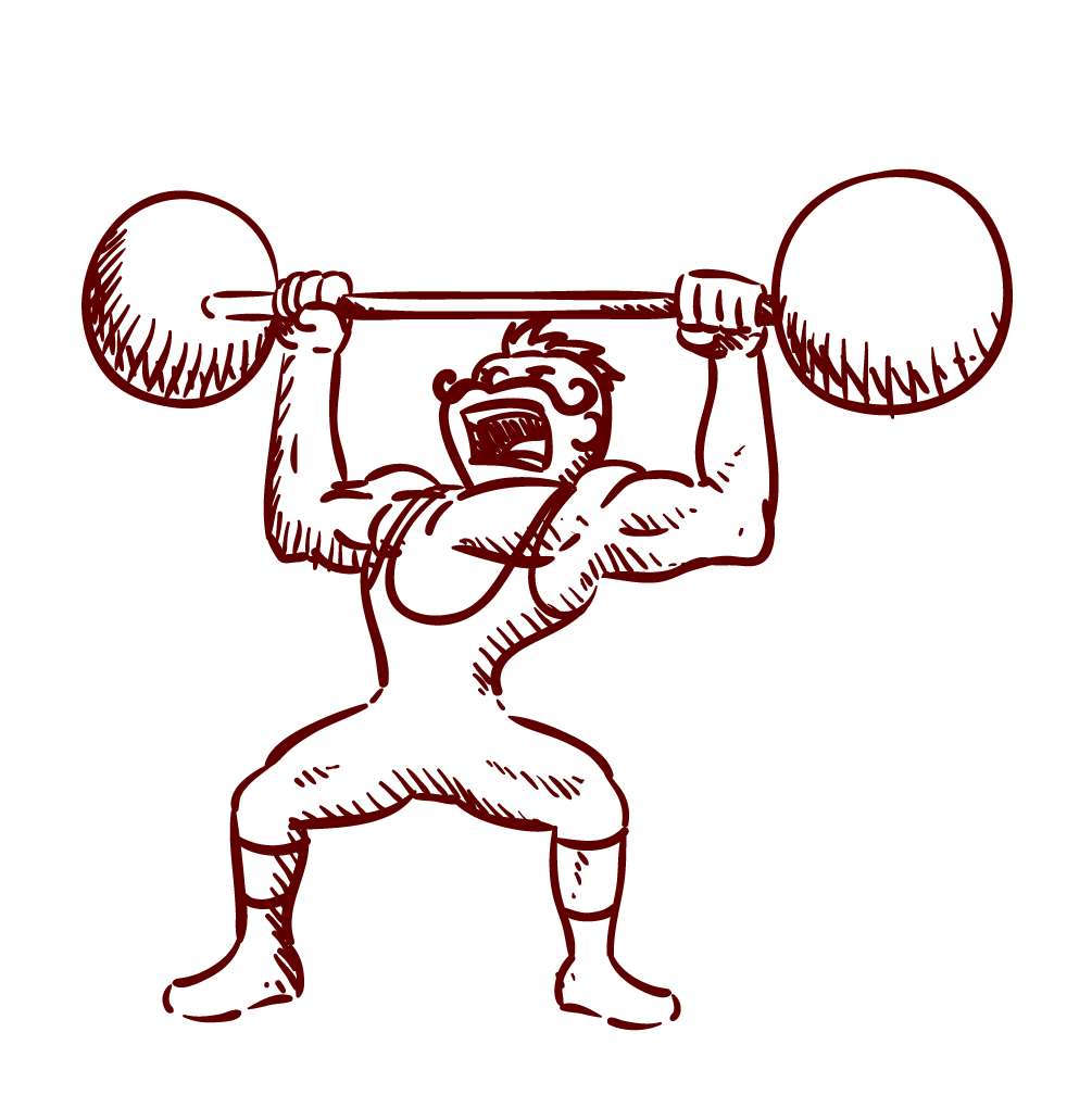 graphic freeuse stock Weight Lifting Drawing at GetDrawings