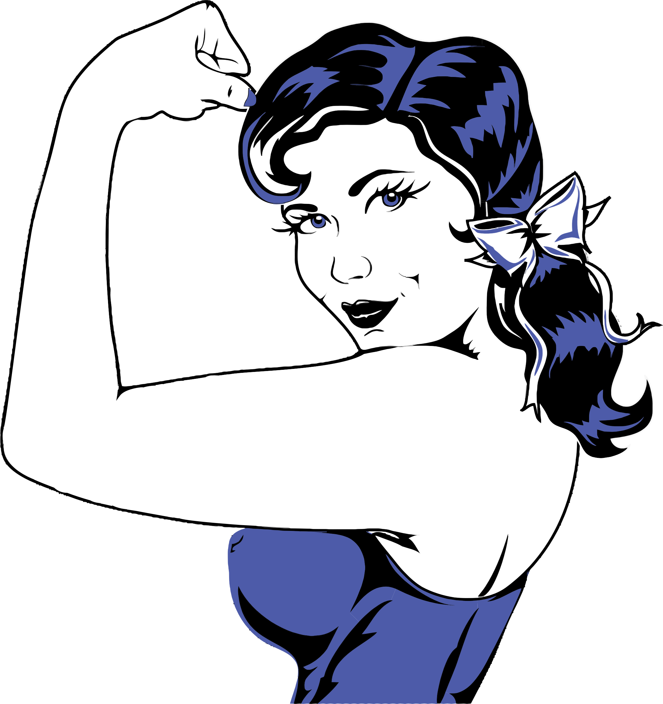 graphic transparent Flexing big image png. Muscle woman clipart