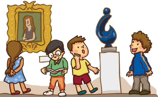 freeuse stock Art museum clipart. Animated pencil and in.