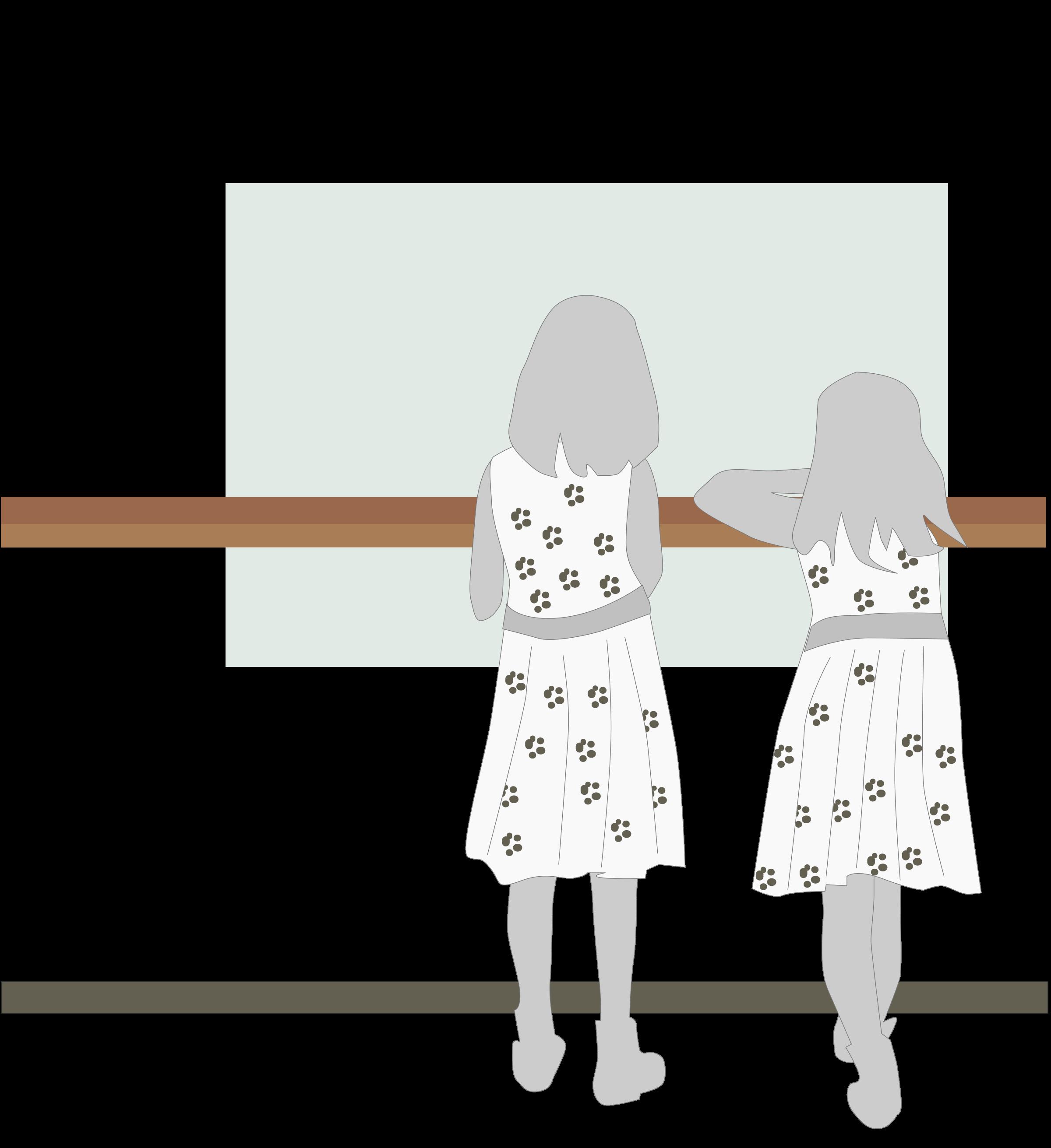 clipart transparent Girls in the big. Museum clipart cartoon.
