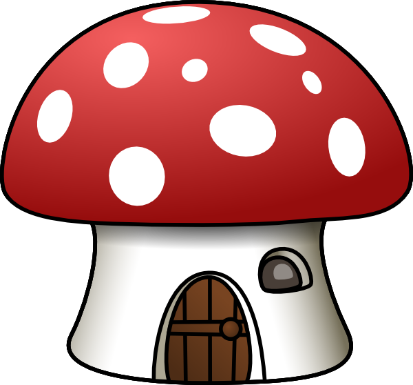 vector freeuse stock Mushroom clipart hut