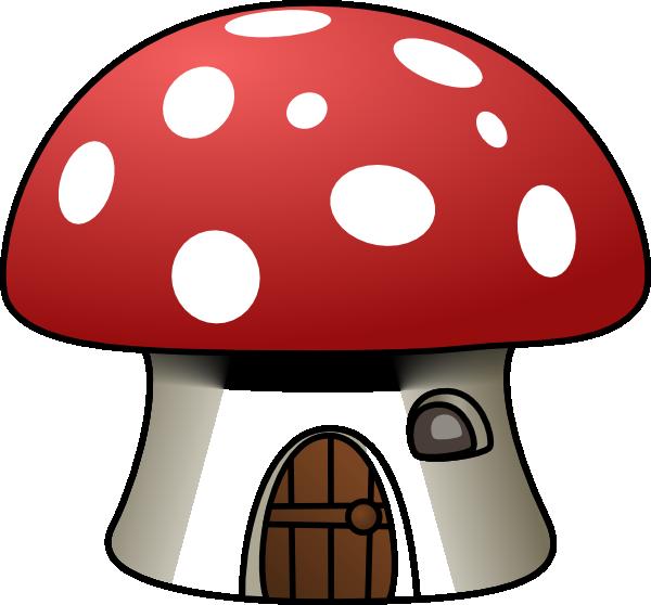 svg royalty free library Mushroom clipart hut