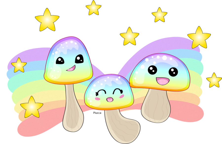 clipart transparent download Mushroom clipart rainbow. Group by piucca on.