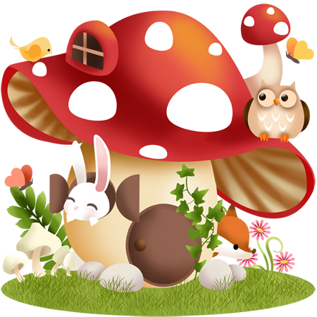 vector transparent download Mushrooms clipart fairy cottage.  png pinterest.