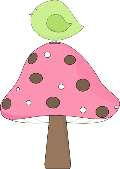 image freeuse library Bird sitting on a. Mushroom clipart trippy.