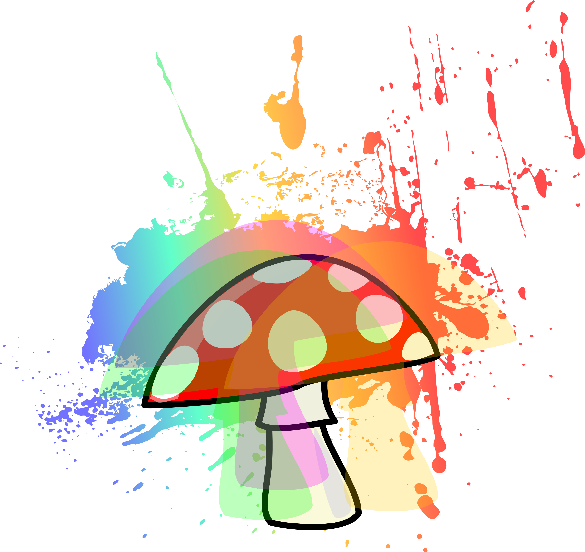 jpg download Psychedelic big image png. Mushroom clipart trippy.