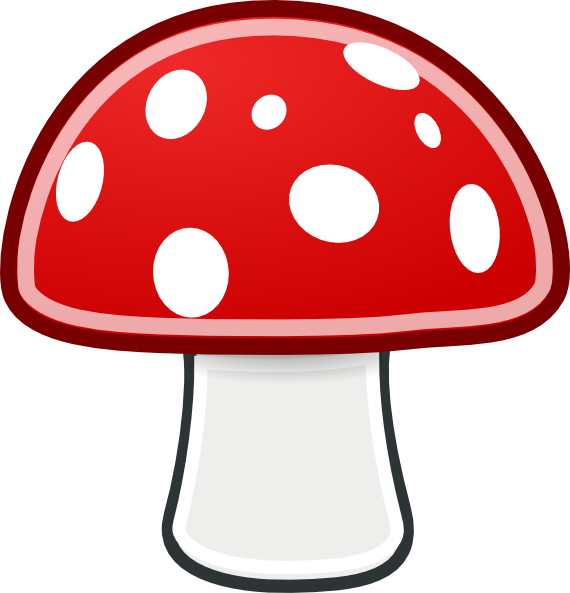 jpg transparent library Mushroom Clip Art at Clker