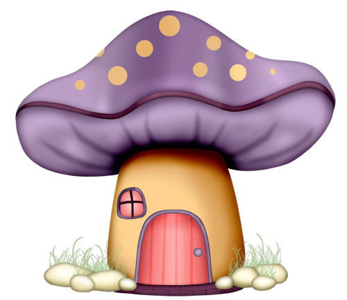 vector black and white library Mushrooms clipart fairy cottage. Http duda cavalcanti minus.