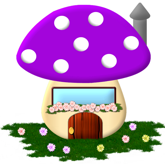 black and white library Mushrooms clipart fairy cottage.  a e xl.