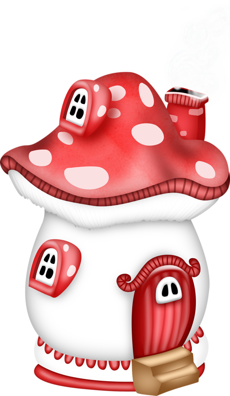 graphic library stock  fd e ddaf. Mushrooms clipart fairy cottage.
