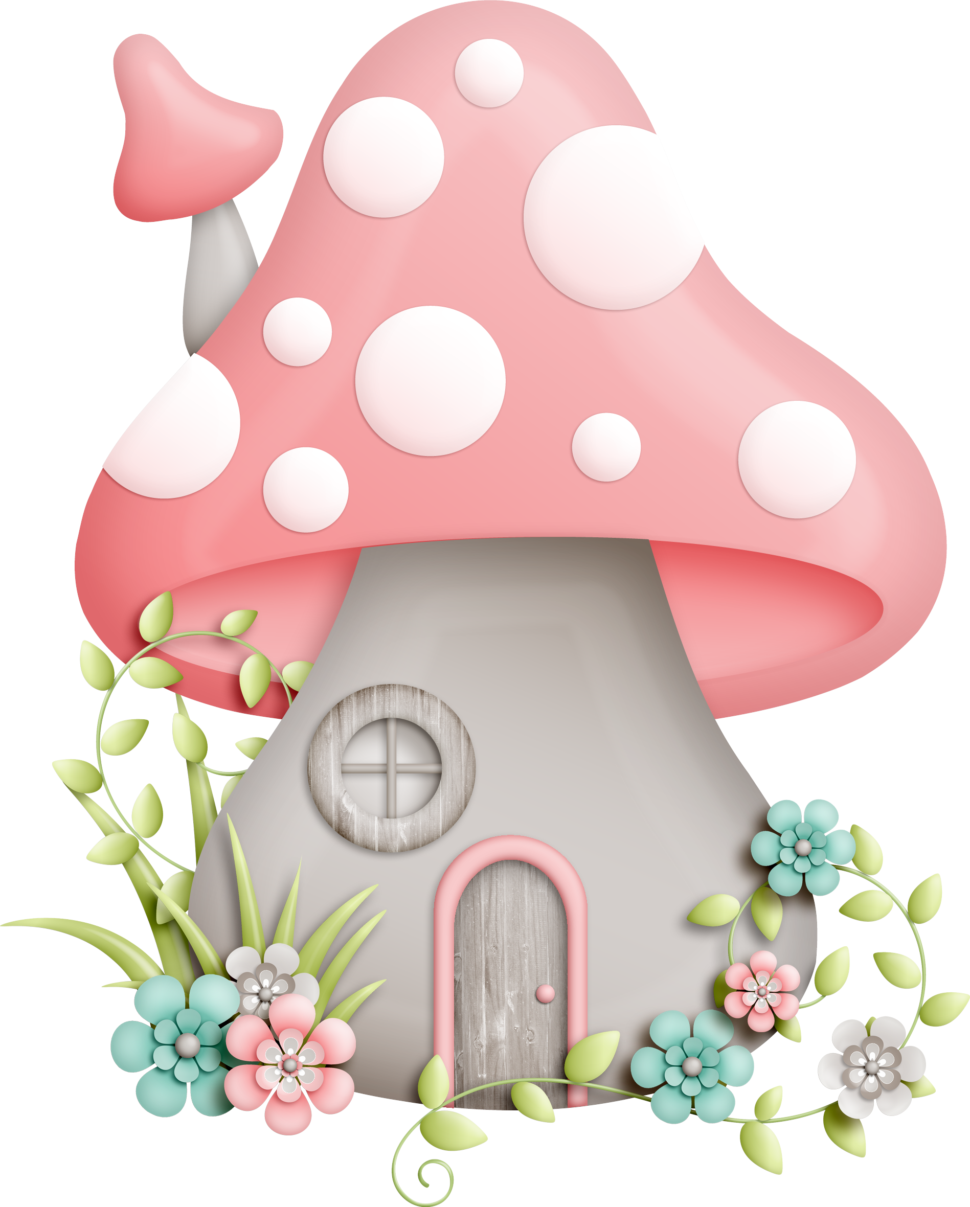 vector free download Pin by mayra on. Mushrooms clipart fairy cottage.