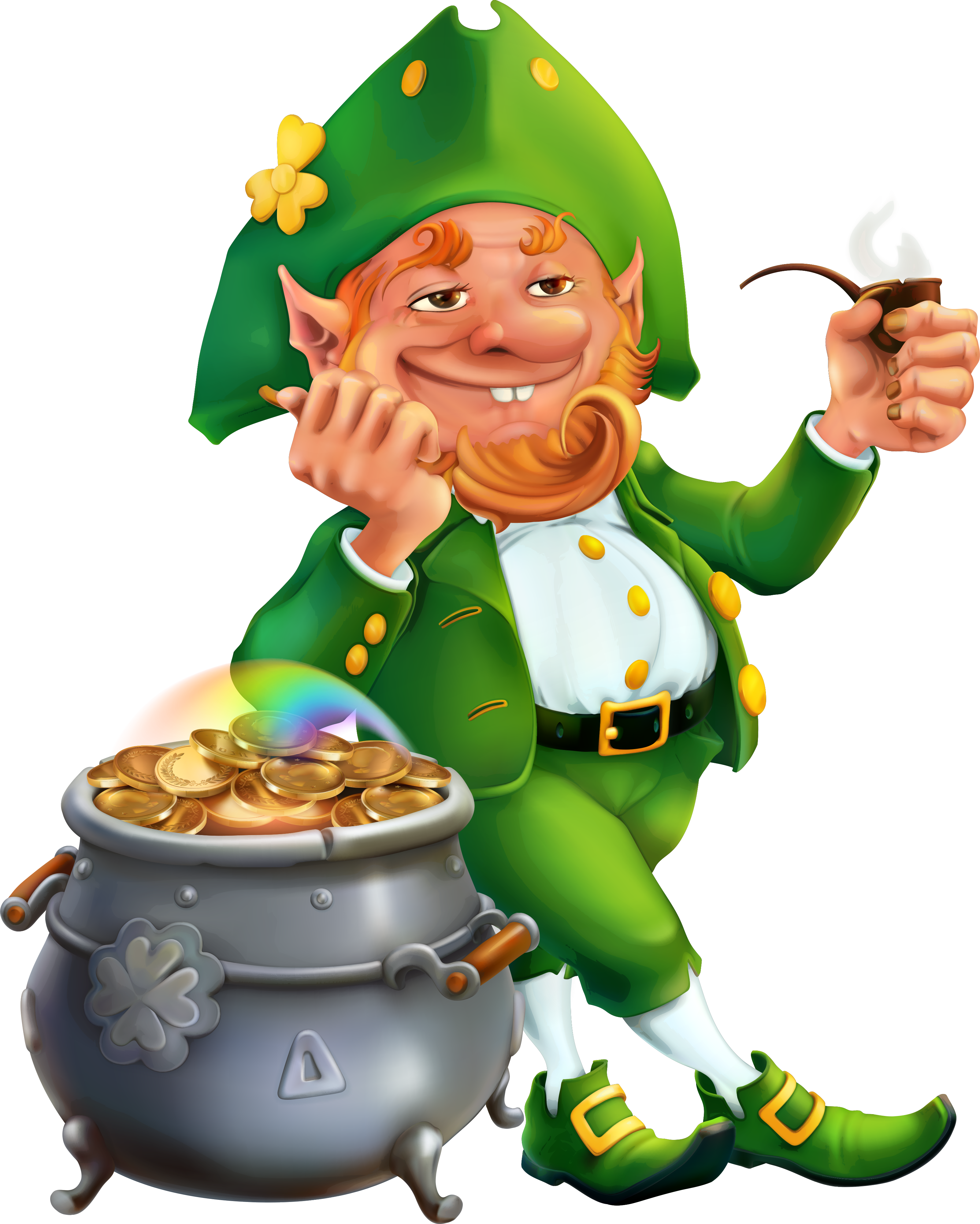 picture royalty free library . Mushrooms clipart leprechaun.