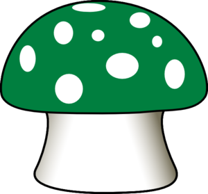 clip black and white library Mushrooms clipart logo. Green mushroom clip art