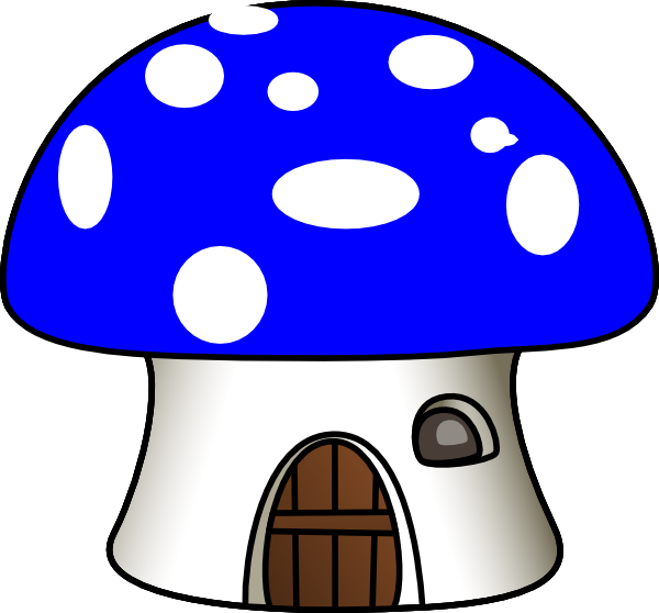 clip art royalty free stock Mushroom in blue clip. Mushrooms clipart logo