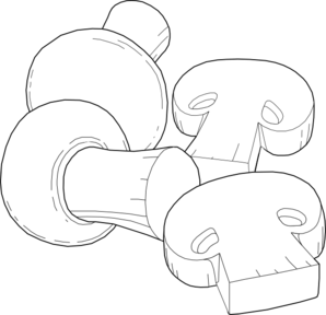 graphic free download Mushrooms Outline Clip Art at Clker