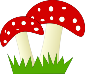 svg royalty free library Mushrooms clipart nice. Red and white dotted.
