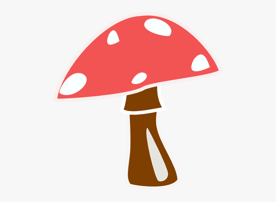 clipart freeuse Mushrooms clipart transparent background. Red top mushroom no.