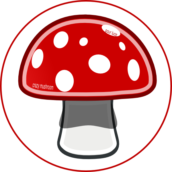 banner freeuse download Mushrooms clipart vintage. Crazy mushroom red pinterest.