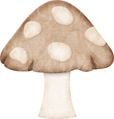 image library stock Almost fall collection autumn. Mushrooms clipart vintage