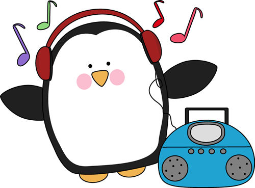 graphic black and white stock Music clipart. Penguin .