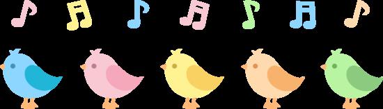 clip art download Cute . Music clipart bird.