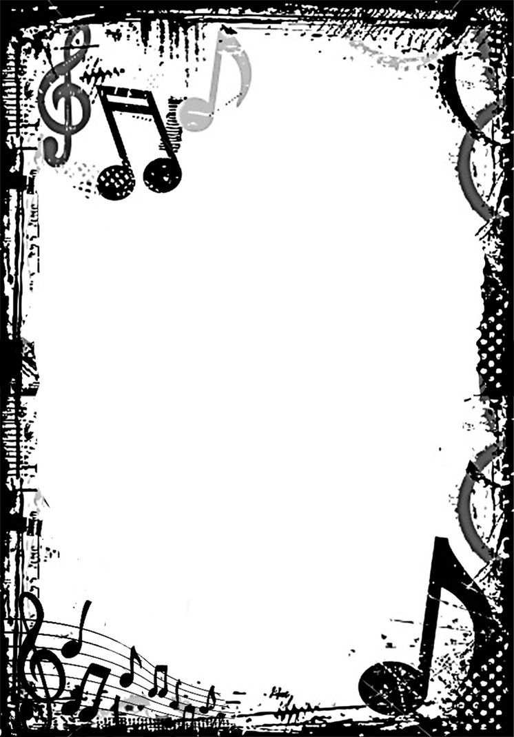 banner freeuse Music borders clipart. Free clip art grunge