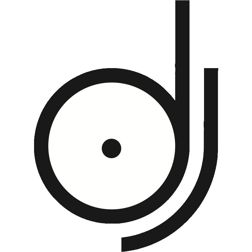 svg library stock dj logo