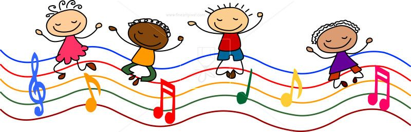 vector Music kids clipart. Stock vector free vectors.