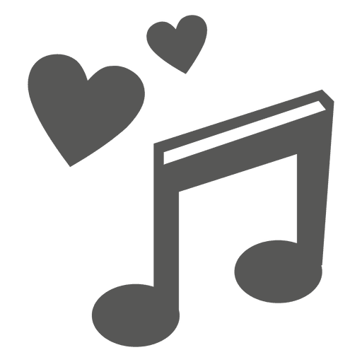 image freeuse library Hearts music note icon