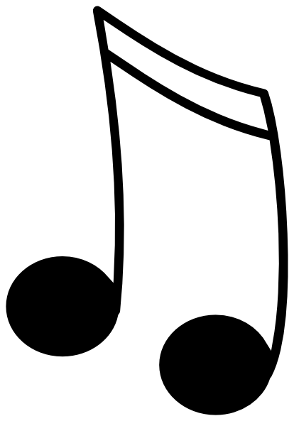 freeuse library Music Notes Black And White