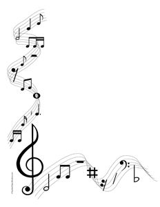 clip art royalty free Musical notes portrait blank. Music clipart borders