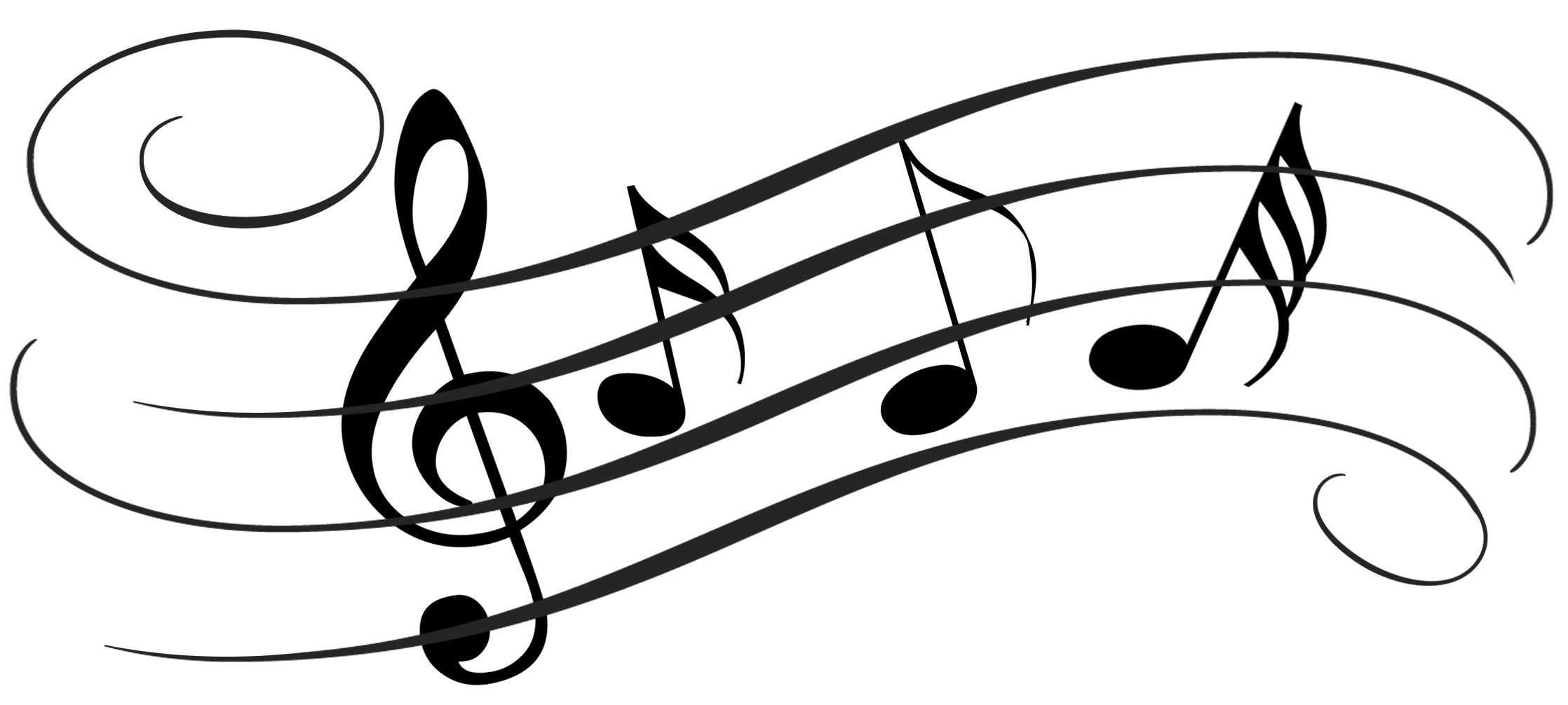 jpg royalty free download Music notes black and. Note drawing