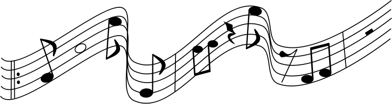 vector transparent stock Music Staff Clip Art