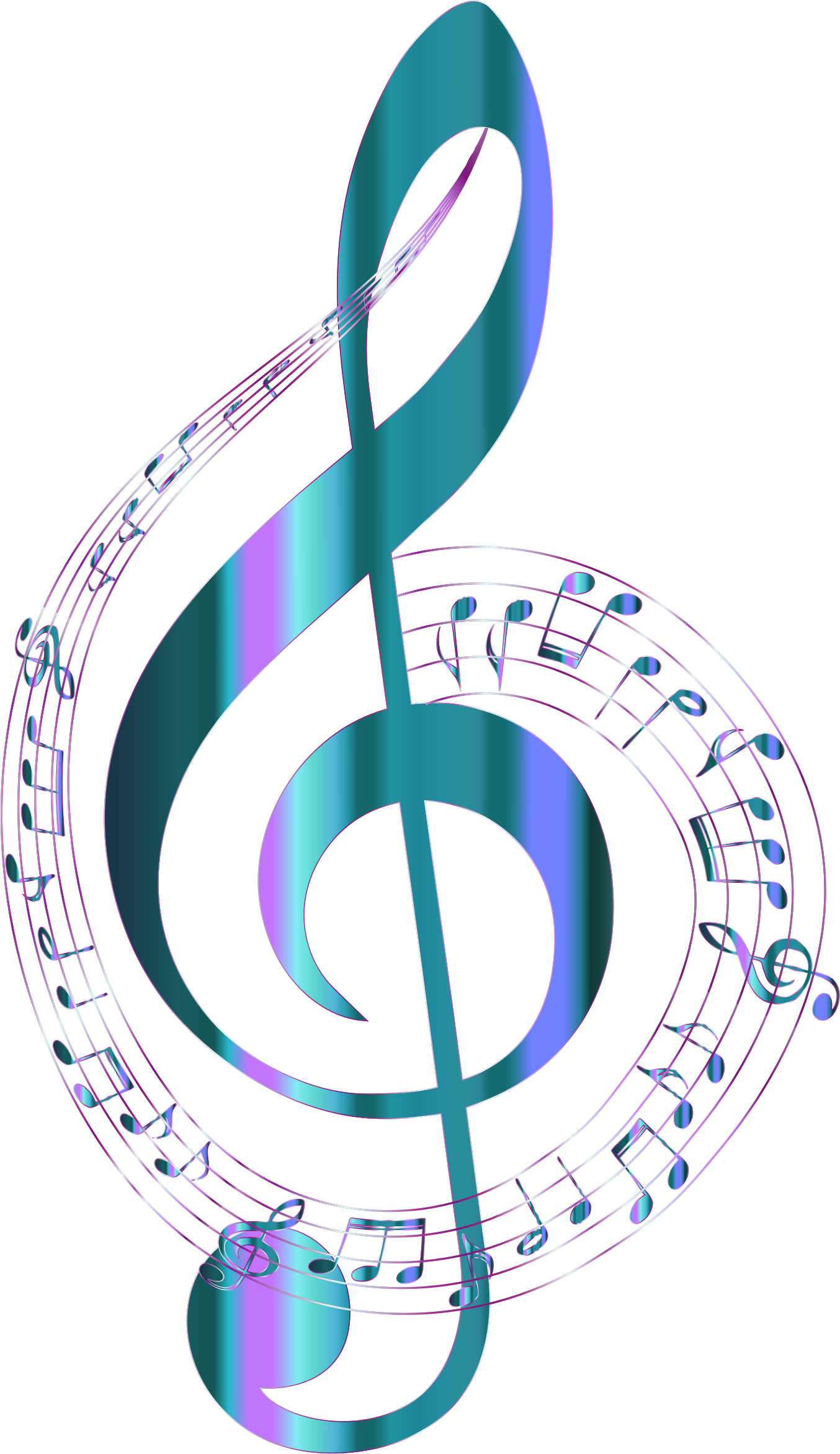 banner library stock Musical clipart. Turquoise notes typography no.