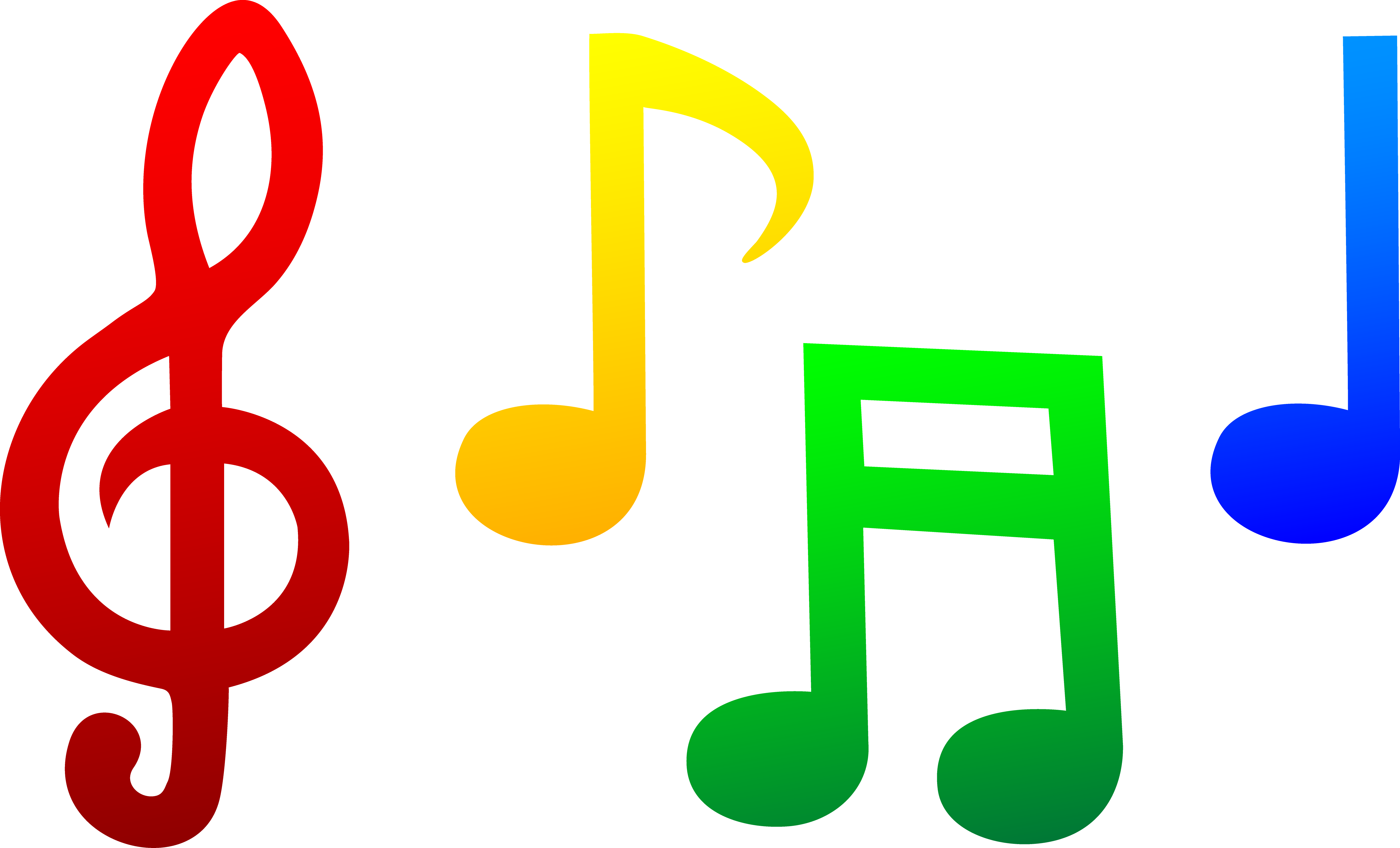 image free download Musical Notes Set Color Clip Art