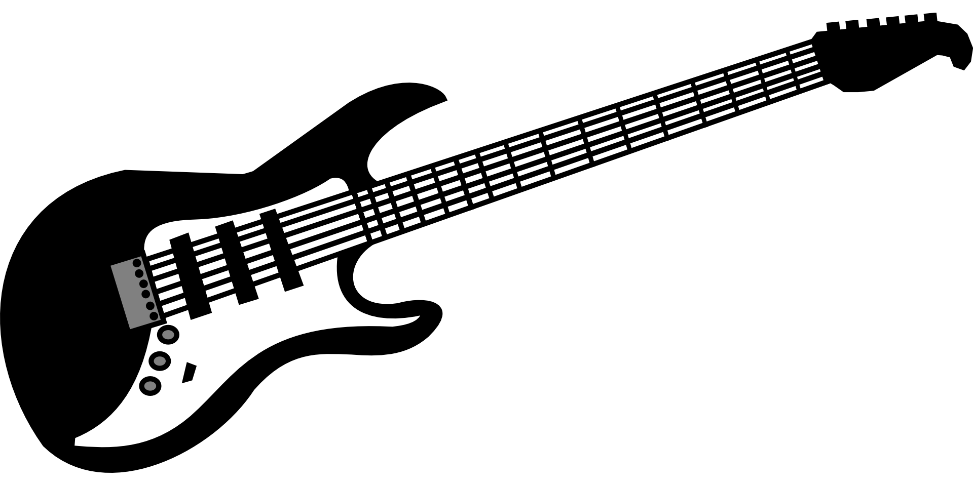 freeuse download Musical instrument clipart black and white. Guitar electric music rock