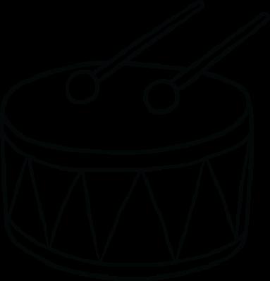 clipart transparent download Drum social studies image. Musical instruments clipart black and white