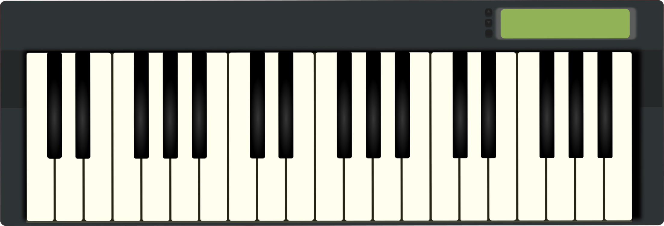 jpg transparent library Digital piano instrument electric. Musical keyboard clipart