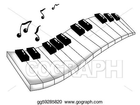 image free stock Stock illustration illustrations . Musical keyboard clipart