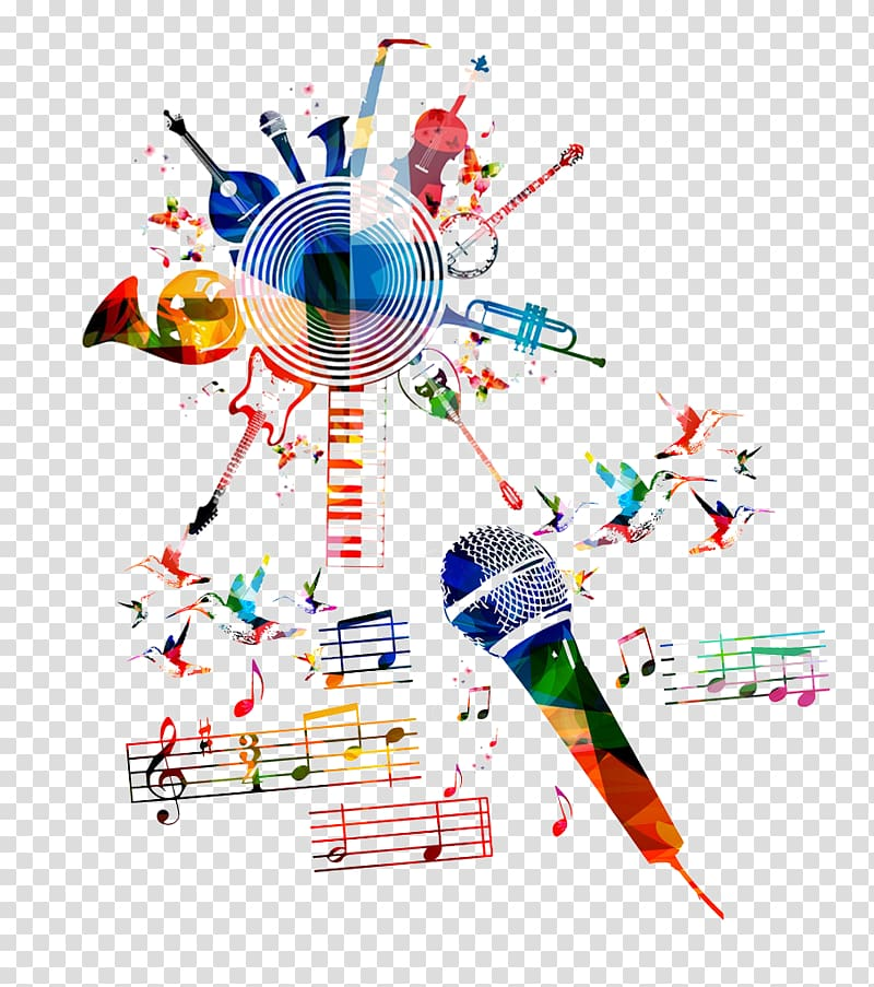royalty free stock Musician clipart music dancing. Instruments and musical notes.