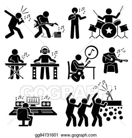 image transparent Vector stock music artist. Musician clipart rock star.