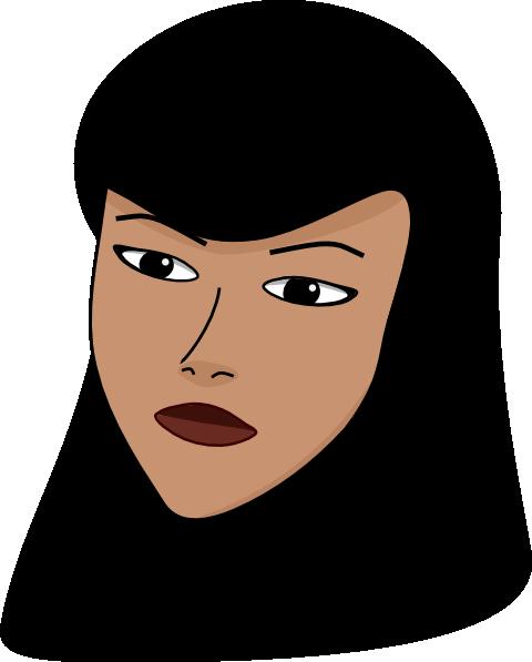graphic black and white Muslim Women Clipart
