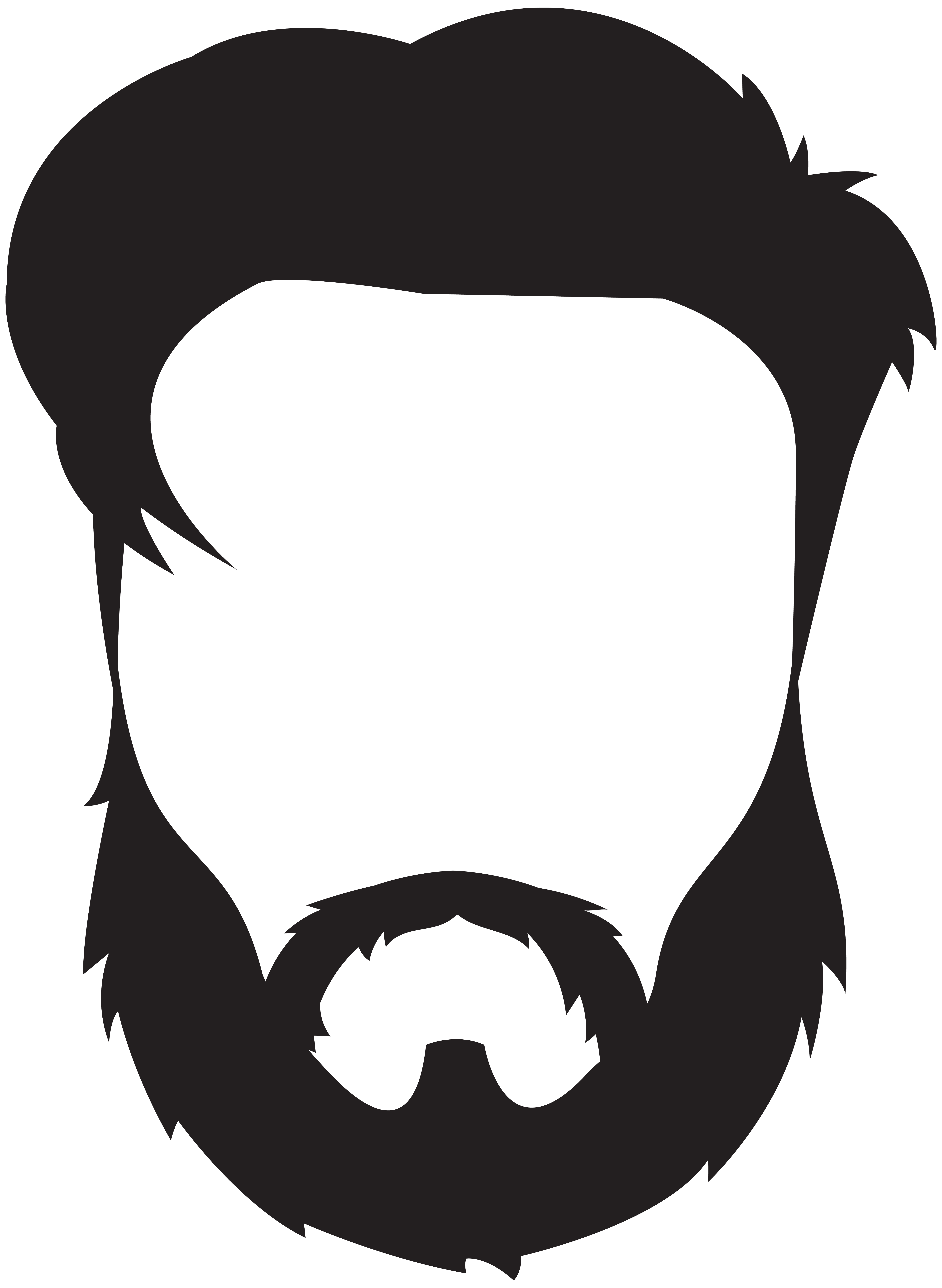 svg royalty free library Beard clipart black and white. Royalty free clip art
