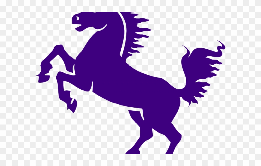 image transparent stock Purple horse png black. Mustang clipart