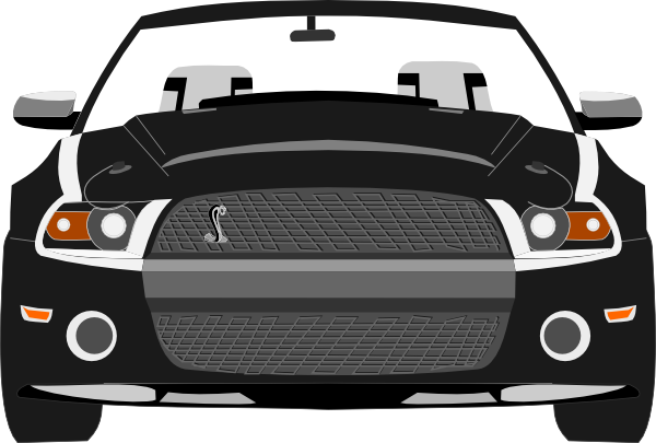 picture Mustang clipart. Black and white ford.