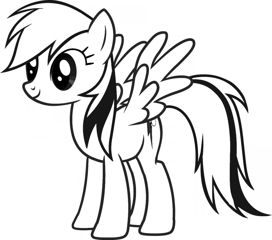 vector free library  collection of rainbow. My little pony clipart black and white